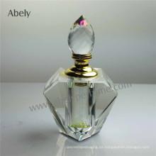 Botellas de aceite de perfume transparente de botellas de vidrio cosméticos