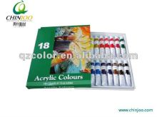 18 color acrylic paint