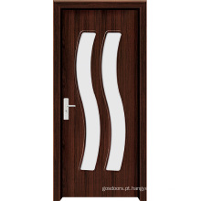 Porta de banheiro interior de vidro fosco (WX-PW-168)
