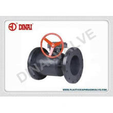 UPVC / PVC 2 Way full bore Flange Plastic Ball Valve Worm-g