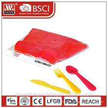 disposable food grade plastic fork, knife, spoon cutlery set for promotion