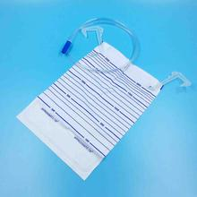 Plastic Urine Bag plus 0.9m tubing with inlet