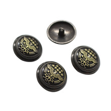 New Fashion Design for Metal Shirt Buttons Antique Eagle Metal Buttons For Coats Jackets supply to India Suppliers