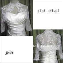 JK49 Frauen Perlen lange Ärmel Hochzeit Jacke