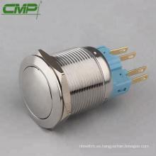 CMP 22 mm de acero inoxidable resistente a los vándalos 5A / 250V SIN interruptor de botón NC