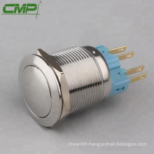 CMP 22mm vandal resistant stainless steel 5A/250V NO NC push button switch