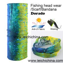 Anti-UV Wicking Dorado Fishing Headwear Lenço Bandana