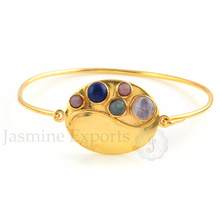 Beautiful Multi Gemstone Gold Plated Wholesale Alibaba Jewelry Supplier
