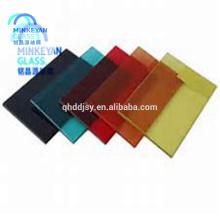 Usine de verre en Chine, 4mm 5mm 6mm 8mm 10mm 12mm 15mm 19mm clair coloré verre trempé de bâtiment de fenêtre