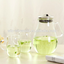 Werbeartikel handgefertigt Edelstahl Filter Mikrowelle Glas Teekanne