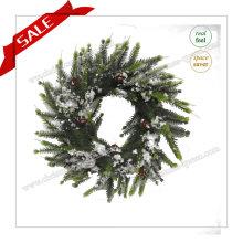30-48cm Künstliche Kranz Plastik Dekorative Kranz Metall Weihnachten Outdoor Dekoration