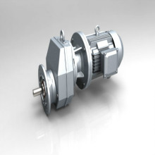 Efisiensi tinggi Foot Mounted Helical Electric Gearbox
