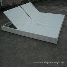 White Color High Quality Rattan Outdoor Garden Aluminum Sun Lounger