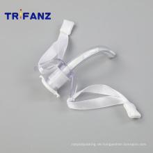 Klassische Einweg-PVC-Tracheostomiekanüle ohne Cuff