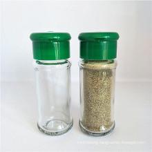 75ml Round Shape Glass Spice Jars, Plastic Cap