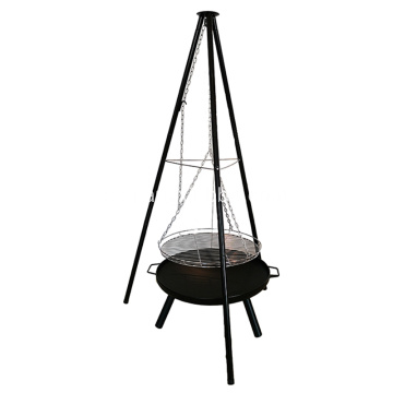 Patio Tripod Charcoal Barbecue Hanging BBQ