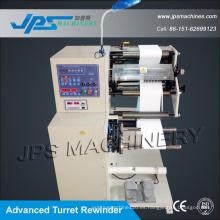Máquina de cortadora de etiquetas en blanco de alta velocidad con rebobinadora de torreta