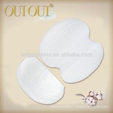 OEM marque privée super confort absorbant 11.5 * 12.3cm de pad de sueur aisselle