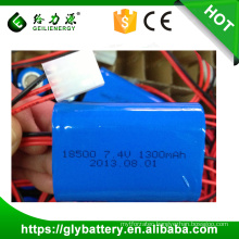 2014 good quality rechargeable li-ion battery 7.4v 1100mah