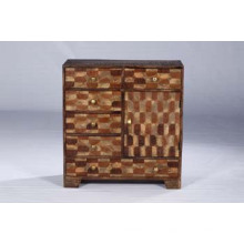 Hochwertige Antike Recycled Holz Schubkasten Brust