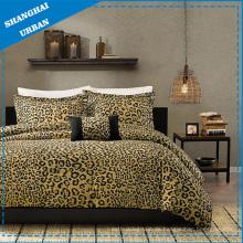 3 PCS Baumwolle Polyester Leopardenmuster Bettbezug Set