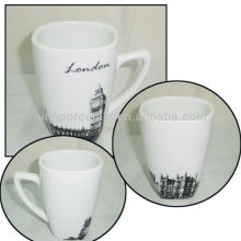 London City Design 11OZ Ceramic Square Cup For BS130601A