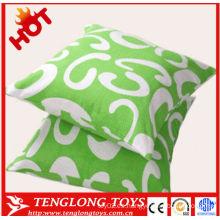 Hermosa y suave forma cuadrada almohada de peluche, almohada rellena
