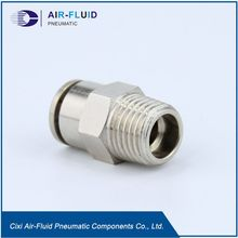 "Air Fluid Metal Pneumatic Fittings 06mm X 1/2"" BSPT"