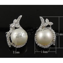 Gets.com Boucles d'oreilles en diamant en argent sterling sterling de 925