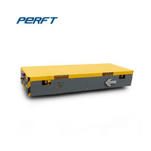 Flat bed cargo transporter motorized transfer rail wagons