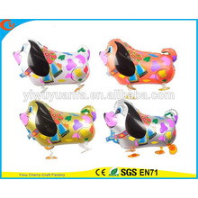 Fashionanle Walking Animal Balloon Toy Foil Balloon Colorful Dog for Christms Gift