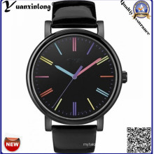 Yxl-141 Fashion Hot Sale Watches Vogue Charming Dress Watch Lady Leather Steel Case Colorful Dial Casual Watches Women