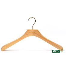 Ombros largos elegante cabide de madeira