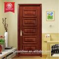 Ventas de la fábrica diseño sólido de la puerta de madera para la casa de lujo precio de la puerta de madera sólida