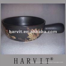 Olla de cocción en relieve antiadherente resistente al calor