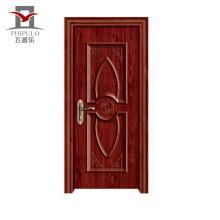 Porte d'entrée en bois en acier de nouvelle conception professionnelle à petit prix