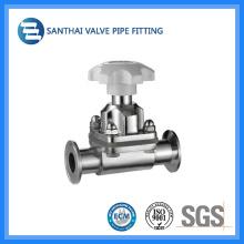 Válvula de Controle Sanitária de Aço Inoxidável com Diafragma
