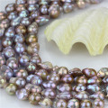 Freshwater Loose Pearl Strand Size 15mm Grade AA Light Peacock Nulceated Pearl Strand