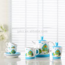Ensemble de thé en porcelaine de gros enfants belle usine