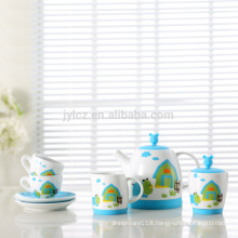 Factory wholesale lovely kids china tea set