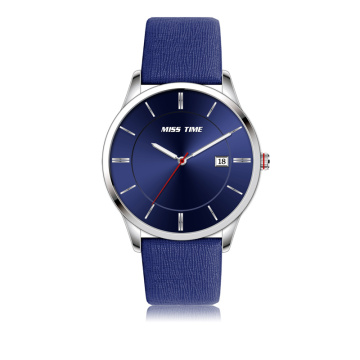 wholesale crystals leather bracelet stainless steel men watch