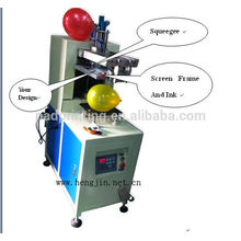 Hengjin precise screen printing machine, automatic screen printer ,screen printing machine for balloon