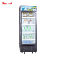 350L fan cooling glass display no frost showcase