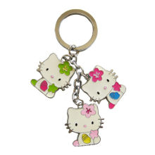 Zinc Alloy Hello Kitty Cat Shape Charms Metal Keychains For Souvenir Gifts And Promotions