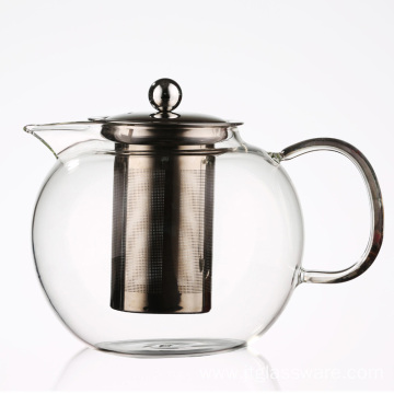 Microwave and Stovetop Safe Big Volume Glass Teapot