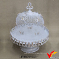 White Mesh Butterfly cobrir Metal casamento bolo Stand