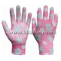 Печати полиэстера работы перчатку с Palm PU покрытием (PN8014-8)