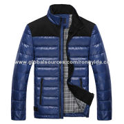 Men's Down Winter Jacket, Quick Production Capability, Most Comfortable