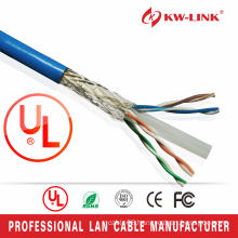 Pure Copper professional braiding shielded 23awg copper/ cca cat6 cat6e indoor