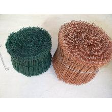 Alambre de lazo de cobre galvanizado de doble lazo